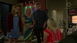 Xanthe Canning, Sheila Canning, Gary Canning, Brooke Butler in Neighbours Episode 7507