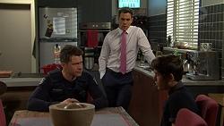 Mark Brennan, Aaron Brennan, Angus Beaumont-Hannay in Neighbours Episode 7507