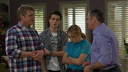 Gary Canning, Ben Kirk, Xanthe Canning, Karl Kennedy in Neighbours Episode 7508