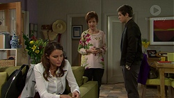 Elly Conway, Susan Kennedy, Angus Beaumont-Hannay in Neighbours Episode 7508