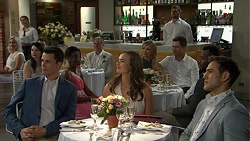 Jack Callaghan, Karl Kennedy, Amy Williams, Steph Scully, Mark Brennan, Aaron Brennan in Neighbours Episode 7510