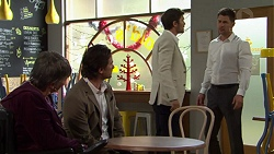 Maxine Cowper, Brad Willis, Ned Willis, Mark Brennan in Neighbours Episode 7510