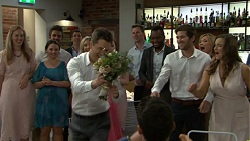 Mark Brennan, Ned Willis, Steph Scully, Amy Williams in Neighbours Episode 7510