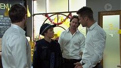 Ned Willis, Const. Miranda Corby, Brad Willis, Mark Brennan in Neighbours Episode 7510