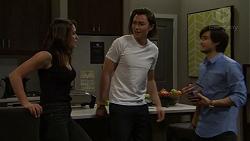 Paige Novak, Leo Tanaka, David Tanaka in Neighbours Episode 7511