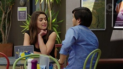 Paige Novak, David Tanaka in Neighbours Episode 7512