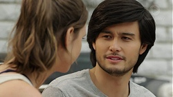 Amy Williams, David Tanaka in Neighbours Episode 7512