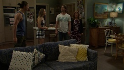 Tyler Brennan, Piper Willis, Brad Willis, Terese Willis in Neighbours Episode 7512