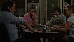 Leo Tanaka, Aaron Brennan, David Tanaka, Amy Williams in Neighbours Episode 7513