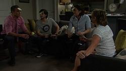 Aaron Brennan, David Tanaka, Leo Tanaka, Amy Williams in Neighbours Episode 7513
