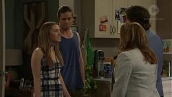 Piper Willis, Aaron Brennan, Terese Willis, Brad Willis in Neighbours Episode 7513