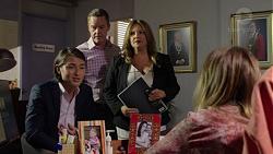 Leo Tanaka, Paul Robinson, Terese Willis, Sonya Mitchell in Neighbours Episode 7515