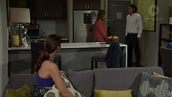 Amy Williams, Sonya Mitchell, Leo Tanaka in Neighbours Episode 7515