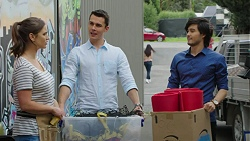 Amy Williams, Jack Callaghan, David Tanaka in Neighbours Episode 7516