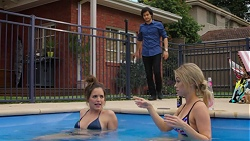 David Tanaka, Paige Novak, Courtney Grixti in Neighbours Episode 7516