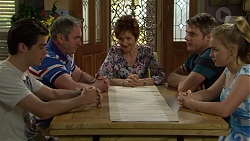 Ben Kirk, Karl Kennedy, Susan Kennedy, Gary Canning, Xanthe Canning in Neighbours Episode 7516