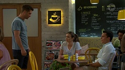 Mark Brennan, Amy Williams, Aaron Brennan in Neighbours Episode 7516