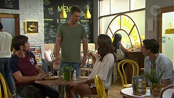 Ned Willis, Mark Brennan, Elly Conway, Ben Kirk in Neighbours Episode 7517