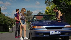 Ned Willis, Piper Willis, Tyler Brennan in Neighbours Episode 7517