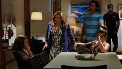 Piper Willis, Terese Willis, Brad Willis, Paige Novak, Ned Willis in Neighbours Episode 7518