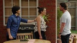 David Tanaka, Paige Novak, Brad Willis in Neighbours Episode 7518
