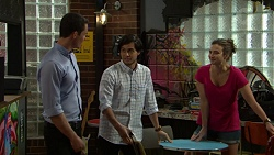 Jack Callaghan, David Tanaka, Amy Williams in Neighbours Episode 7519