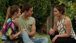 Piper Willis, Tyler Brennan, Paige Novak in Neighbours Episode 7519