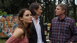 Elly Conway, Leo Tanaka, Gary Canning in Neighbours Episode 7522