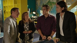 Paul Robinson, Terese Willis, Aaron Brennan, Leo Tanaka in Neighbours Episode 7522
