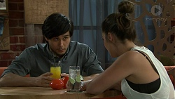 David Tanaka, Paige Novak in Neighbours Episode 7524
