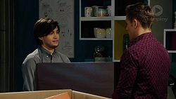 David Tanaka, Aaron Brennan in Neighbours Episode 7524