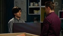 David Tanaka, Aaron Brennan in Neighbours Episode 7524