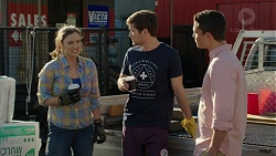Amy Williams, Ned Willis, Jack Callahan in Neighbours Episode 7524