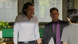 Leo Tanaka, Aaron Brennan, David Tanaka in Neighbours Episode 7524