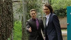 Aaron Brennan, Leo Tanaka in Neighbours Episode 7524