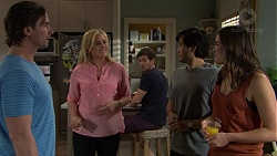 Brad Willis, Lauren Turner, Ned Willis, David Tanaka, Paige Novak in Neighbours Episode 7524
