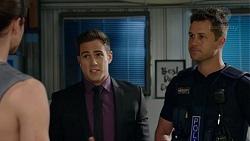 Tyler Brennan, Aaron Brennan, Mark Brennan in Neighbours Episode 7526