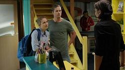 Piper Willis, Tyler Brennan, Leo Tanaka in Neighbours Episode 7526
