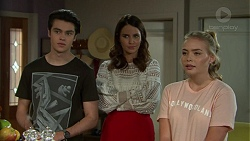 Ben Kirk, Elly Conway, Xanthe Canning in Neighbours Episode 7528