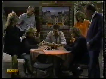Charlene Robinson, Jim Robinson, Scott Robinson, Des Clarke, Henry Ramsay, Madge Bishop, Dan Ramsay in Neighbours Episode 0773