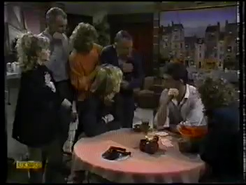 Charlene Robinson, Jim Robinson, Madge Bishop, Dan Ramsay, Scott Robinson, Des Clarke, Henry Ramsay in Neighbours Episode 0773