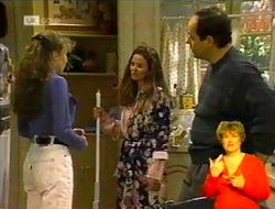 Debbie Martin, Julie Robinson, Philip Martin in Neighbours Episode 2016