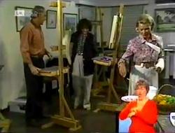 Tom Weaver, Pam Willis, Helen Daniels in Neighbours Episode 2106