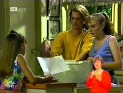 Hannah Martin, Brett Stark, Debbie Martin in Neighbours Episode 2106
