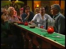 Susan Kennedy, Harold Bishop, Madge Bishop, Drew Kirk, Toadie Rebecchi, Lou Carpenter in Neighbours Episode 3143