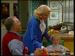 Harold Bishop, Madge Bishop, Louise Carpenter (Lolly) in Neighbours Episode 3145