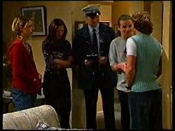 Sally Upton, Sarah Beaumont, Ryan Moller, Toadie Rebecchi, Joel Samuels in Neighbours Episode 3171