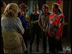 Philip Martin, Madge Bishop, Billy Kennedy, Sally Upton, Joel Samuels, Toadie Rebecchi in Neighbours Episode 3171