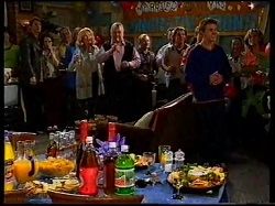 Mike Healy, Libby Kennedy, Philip Martin, Ruth Wilkinson, Madge Bishop, Harold Bishop, Joel Samuels, Toadie Rebecchi, Billy Kenned in Neighbours Episode 3171