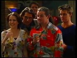 Libby Kennedy, Joel Samuels, Mike Healy, Toadie Rebecchi, Billy Kennedy in Neighbours Episode 3171